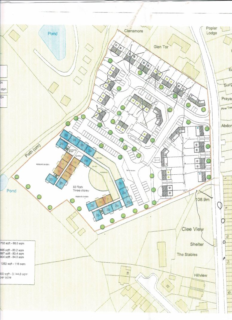 TAYLOR SITE PLAN WITH CLEE VIEW
